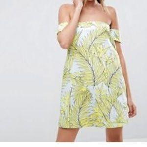 Tropical A line mini dress